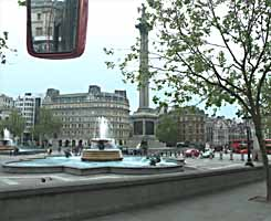 Trafalgar Square, part of city tour